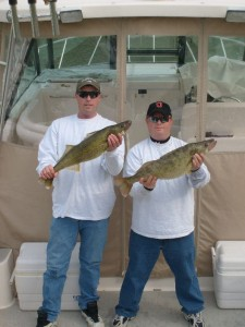 Capt. Rob & Capt. Mike with a couple of Fish Ohio's